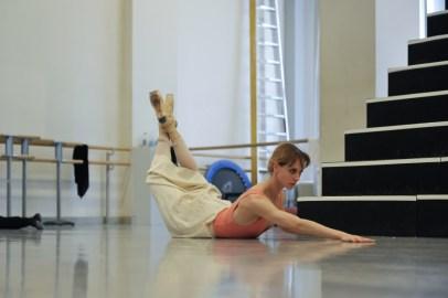 Alicia Amatriain in a rehearsal for Salome