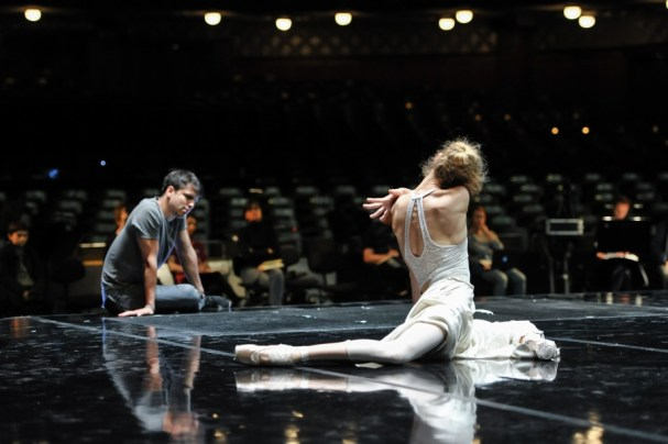 Alicia Amatriain and Demis Volpi at the stage rehearsal for Salome