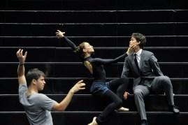 Miriam Kacerova, Adhonay Soares da Silva with Demis Volpi in a rehearsal for Salome