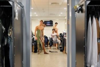"""Posing"" in the dressing room: Matteo Miccini, Noan Alves, Allessandro Giaquinto, Rogert Cuadrado and Fabio Adorisio"