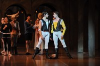 Stage rehearsal for our second performance: David Moore as Romeo and Matteo Crockard-Villa as Tybalt
