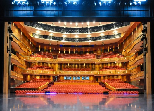 Still empty: The auditorium of the Shanghai Grand Theatre before the performance