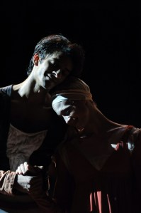 Wedding scene: Alicia Amatriain and Constantine Allen as Romeo and Juliet in our last performance in Shanghai.
