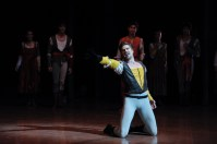 Matteo Crockard-Villa as Tybalt, just before the end of the second act