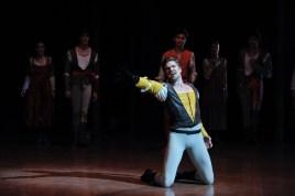Matteo Crockard-Villa as Tybalt, just before the end of the second act