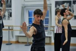 Rehearsal for Marco Goecke's Le Spectre de la Rose: Matteo Miccini