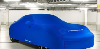 Porsche 911 GTS Club Coupe marks PCA 60th: The GTS Porsche Club of America Club Coupe is seen here under wraps for unveiling in a subterranean garage. Credit: PCNA