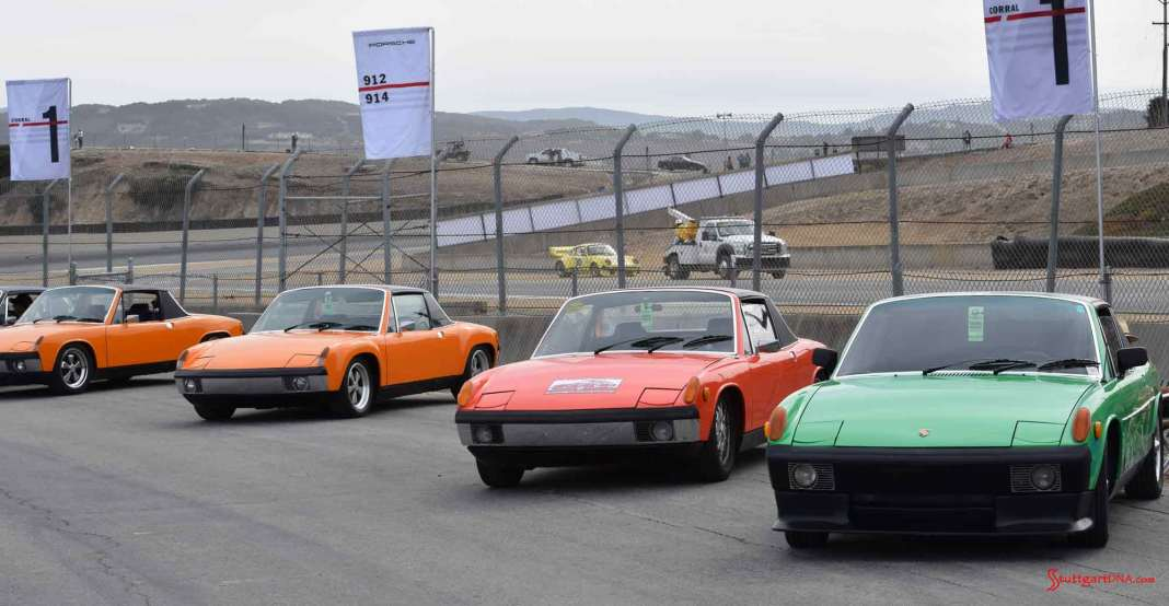 Buying a sweet Porsche - Porsche Type Numbers Decoded: We're at the 914 Corral at 2015 Porsche Rennsport Reunion V, captuing 4 fine 914 specimens. Credit: StuttgartDNA
