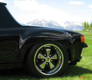 Buying a Sweet 914-6: Seen here is the left-rear 914 Fuchs wheel at Colorado 54th Porsche Parade, 2009