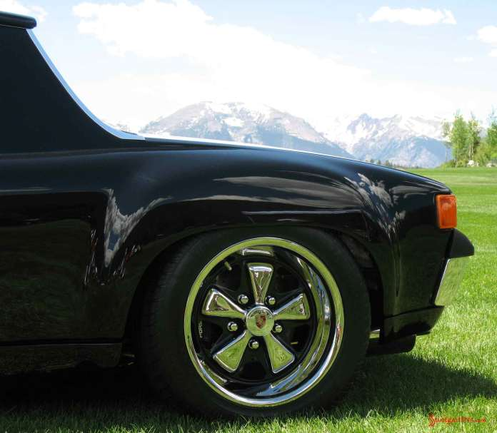 Porsche 914 Okteenerfest: Left-rear 914 Fuchs wheel at Colorado 54th Porsche Parade, 2009
