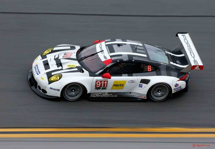 Porsche North America 2016 Post-Roar Report: No. 911 Porsche 911 RSR of Patrick Pilet, Nick Tandy and Kevin Estre on Daytona track at ROAR. Credit: Porsche AG