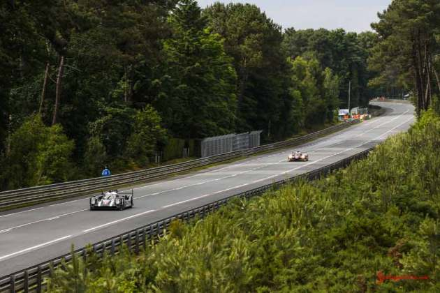 Porsche garners 18th overall win at 84th Le Mans 2016: No. 1 919 on Straight. Credit: Porsche AG