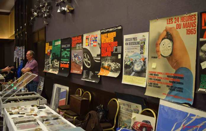 2017 Porsche L.A. Literature, Toy and Memorabilia Meet Weekend: One of several poster concessions at the 2017 Porsche L.A. Lit Meet is depicted here. Credit: StuttgartDNA
