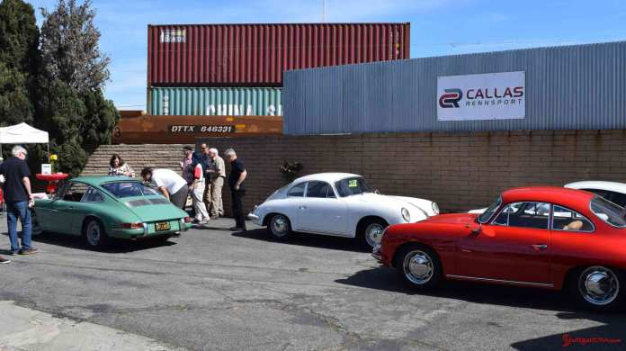 2017 Porsche L.A. Literature, Toy and Memorabilia Meet Weekend: One of the views of the Callas Rennsport exterior, signage and just a bare few of the 2017 Lit Weekend attendees. Credit: StuttgartDNA