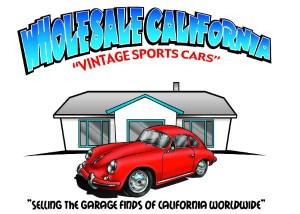 "2017 Porsche L.A. Literature, Toy and Memorabilia Meet Weekend: Seen here is the Wholesale California logo. Their motto on the logo is ""Selling the garage finds of California worldwide."" Credit: Wholesale California"