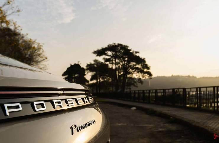 Porsche AG nails mid-year 2017 worldwide sales record - Panamera rear lettering in Taiwan. Credit: Porsche AG