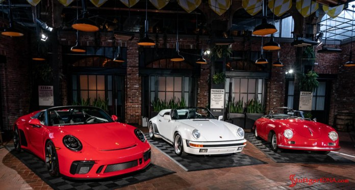991.2-gen Porsche 911 Buyer Guide: Depicted here is a line-up of the Speedster 991.2 compared with past Speedsters. Credit: Porsche AG