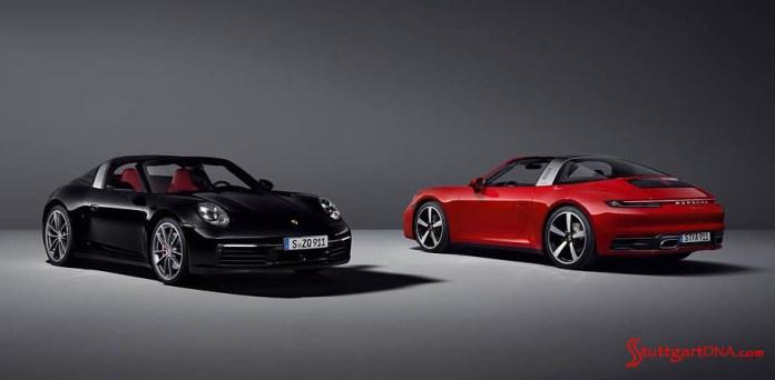 991.2-gen Porsche 911 Buyer Guide: Pictured 991.2-gen Porsche 911 Buyer Guide: Pictured here are two Porsche Targas in black and in red. Source: Credit: Porsche AG