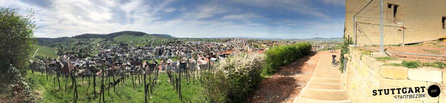 Ein Ausblick über das Dorf - YBurg Remstal