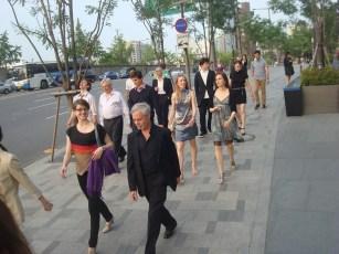 Korea-Gastspiel: DIE KAMELIENDAME - In Seoul sind wir zu einem Willkommens-Empfang eingeladen