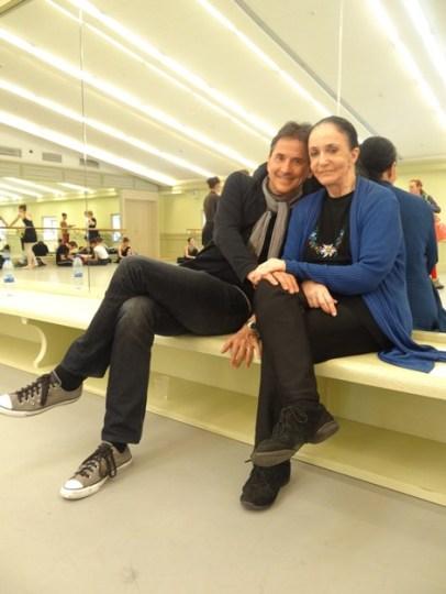 Marcia Haydee und Tamas Detrich bei den Proben im Ballettsaal