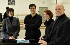 Ein Teil des Teams: Vivien Arnold, Demis Volpi, Katharina Schlipf, James Tuggle (v.r.n.l.)