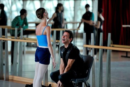 Im Ballettsaal: Tamas Detrich und Anna Osadcenko haben auch Spaß während der Probe