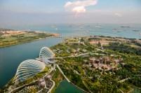 Singapur aus der Vogelperpektive