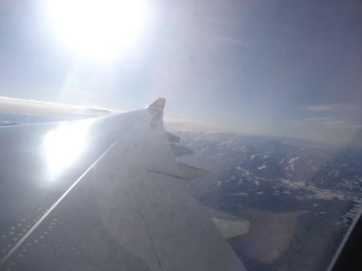 Flug über die Alpen!