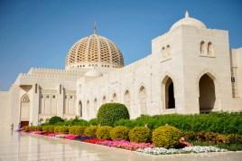 Impressionen aus Oman: Die große Kuppel der Moschee.