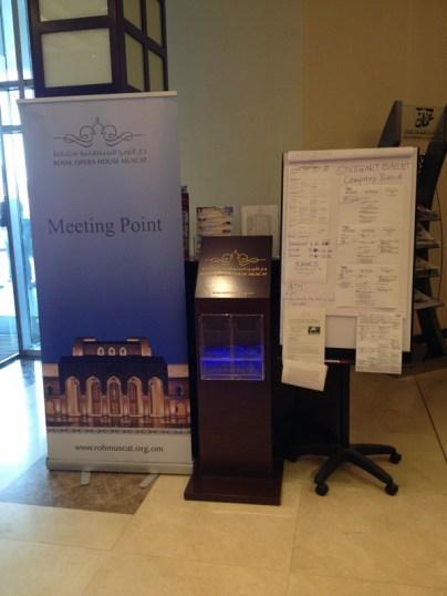 Unser Treffpunkt und Company-Board im Hotel