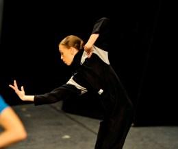 Anna Osadcenko bei der Bühnenprobe