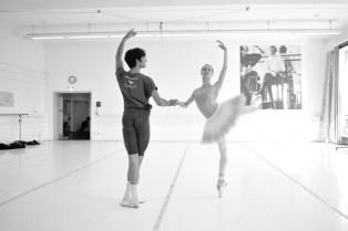 Anna Osadcenko und Constantine Allen bei der Probe