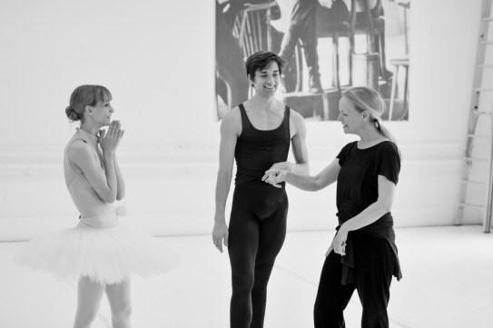 Alicia Amatriain, Friedemann Vogel, Ballettmeisterin Andria Hall