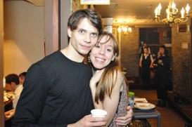 Louis Stiens und Elisa Badenes bei der Dinner Party.