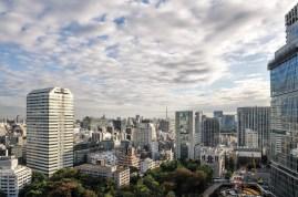 Die Skyline von Tokio (zumindest ein Teil davon) vom Hotel aus gesehen.
