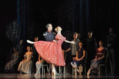Generalprobe für Onegin: Alicia Amatriain als Tatjana, Robert Robinson als Fürst Gremin