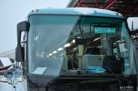 Endlich gelandet: Reid Anderson und Tamas Detrich im Bus zum Hotel