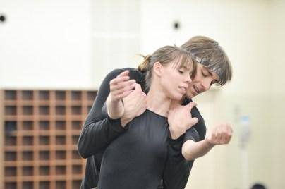 Onegin-Probe im Ballettsaal: Elisa Badenes und Friedemann Vogel