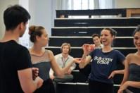 Spass bei der Probe: Demis Volpi, Elena Bushuyeva, Cedric Rupp, Miriam Kacerova, Anouk van der Weijde