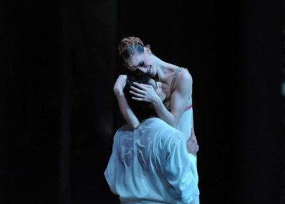 Beim Balkon Pas de deux: Alicia Aamatriain und Constantine Allen