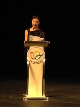 Die chinesische Ballerina Yuan Yuan Tan, Gastgeberin des Forum beim 18. China Shanghai International Dance Festival