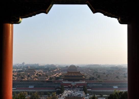 Blick üer die Verbotene Stadt in Beijing