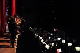 Applaus fürs National Ballet of China Symphony Orchestra vor der ersten gemeinsamen Bühnenprobe mit unserem Drigenten Wolfgang Heinz