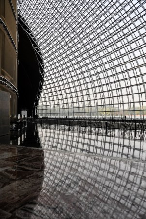 Das Foyer des riesigen Theaters in Beijing