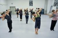 Die Tänzer bei der Probe zu Marco Goeckes Le Spectre de la Rose