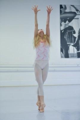 Alicia Amatriain probt im Ballettsaal Maurice Béjarts Bolero