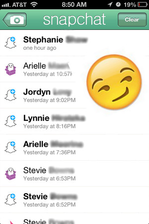 what does the smirk emoji mean on snapchat