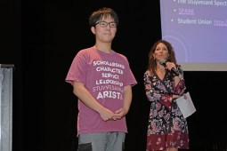 New York, NY, USA - September 28, 2018: Parents of Freshman Workshop at Stuyvesant High School