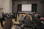 New York, NY, USA - December 3, 2018: CEC2 meeting in which the DOE proposal to eliminate the SHSAT exam was presented by Josh Wallack, Deputy Chancellor, Early Childhood Education and Student Enrollment.